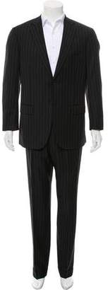 Isaia Super 110'S Wool Pinstripe Suit