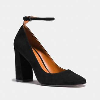 Coach Ankle Strap Pump