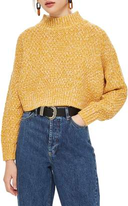Topshop Curve Hem Crop Sweater
