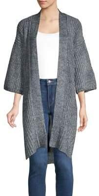 Jones New York Open Front Knit Kimono Cardigan