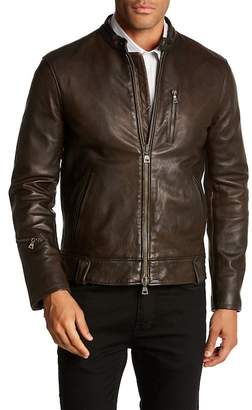 John Varvatos Collection Garment Washed Leather Jacket