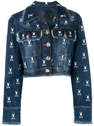 Philipp Plein X Playboy logo denim jacket