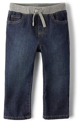 Children's Place The Knit Waist Band Pull-On Jeans (Toddler Boys)