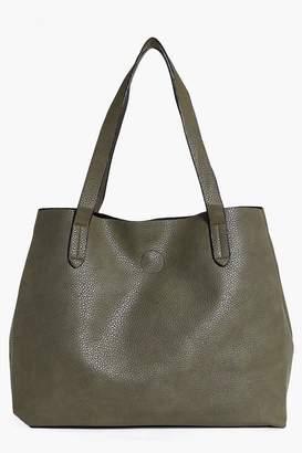 boohoo Victoria Basic Popper Shopper Bag
