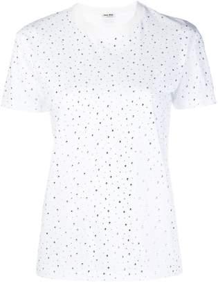 Miu Miu embellished classic T-shirt
