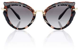 Miu Miu Noir embellished cat-eye sunglasses