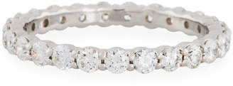 Neiman Marcus Diamonds 18k White Gold Diamond Eternity Band, 1.00tcw, Size 6