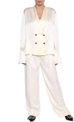 Magda Butrym White Palazzo Trousers