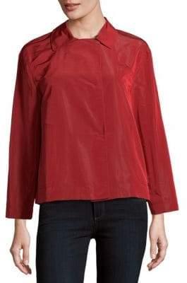 Lafayette 148 New York Tavi Solid Spread-Collar Top