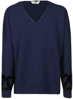 Fendi Trimmed V-neck Sweater