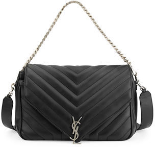 Saint Laurent Monogram Large Slouchy Matelassé Leather Shoulder Bag $1,990 thestylecure.com