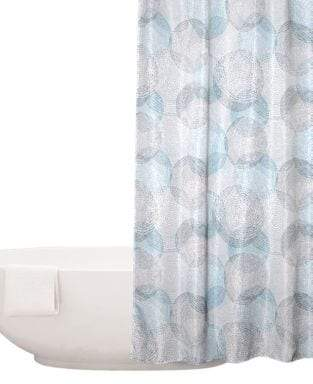 Distinctly Home Circle And Dot Printed Shower Curtain