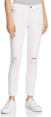 AG Jeans Legging Ankle Jeans in White Torn - 100% Exclusive