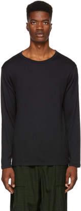 Nanamica Black Long Sleeve Loopwheel T-Shirt