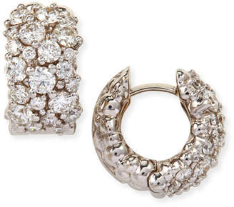 Paul Morelli Large White Diamond Confetti Hoop Earrings