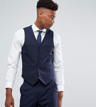 Asos TALL Slim Suit Vest In Navy