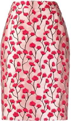 Blumarine Be Floral Patterned Pencil Skirt