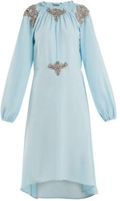 Dodo Bar Or - Marisa Crystal Embellished Dress - Womens - Light Blue