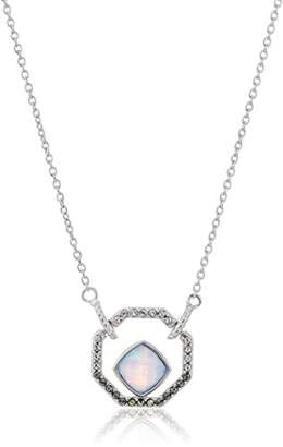 Judith Jack Sterling Silver and Opal Small Pendant Necklace