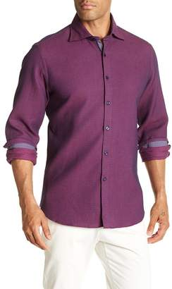 Stone Rose Waffle Texture Slim Fit Sport Shirt