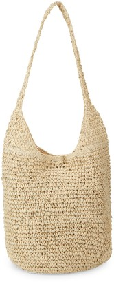 Saks Fifth Avenue Marabelle Woven Straw Hobo Bag