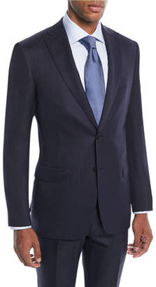 Brioni Men's Tonal Stripe Wool-Silk Two-Piece Suit