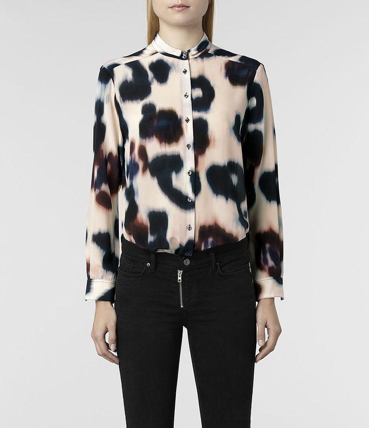 AllSaints Oxblood Echo Leus Shirt