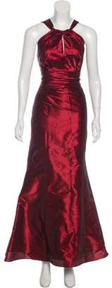 Amsale Strapless Evening Dress