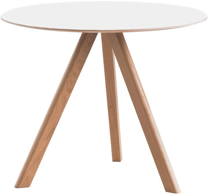 Hay - Copenhague CPH20 Tisch Ø 90 cm, lackierte Eiche mit Linoleum, cremeWeiß (Mushroom 4176)
