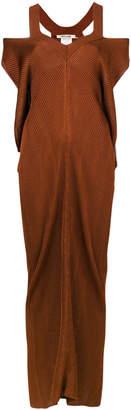 Roberto Cavalli cold shoulder maxi dress