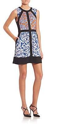 BCBGMAXAZRIA Women's Donatella Printed Dress