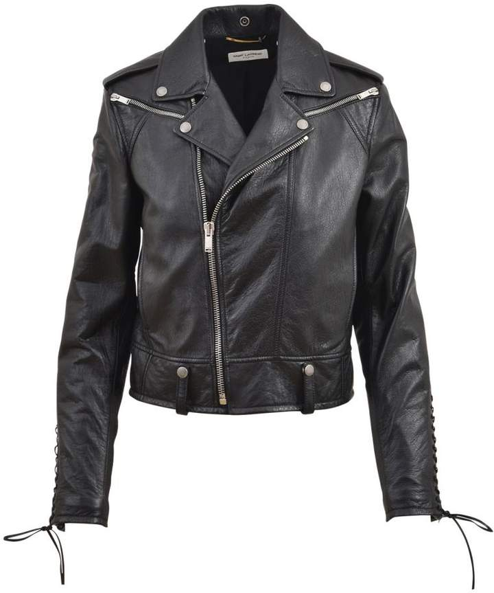 Lace Detail Motorcycle Jacket