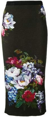 Antonio Marras floral print pencil skirt