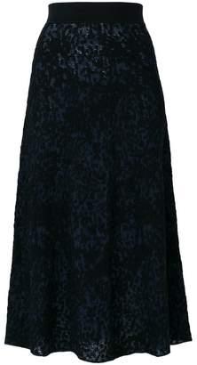 Sonia Rykiel patterned midi skirt
