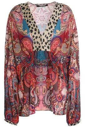 Roberto Cavalli Printed Silk-Georgette Blouse