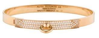 Hermes 18K Diamond Collier de Chien Bracelet