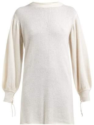 Roche Ryan Balloon Sleeve Cashmere Sweater - Womens - White