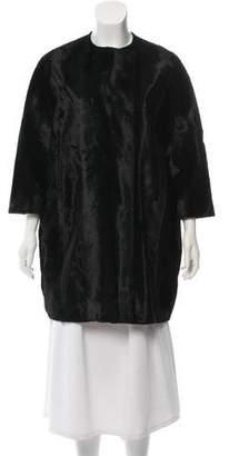 Alberto Biani Collarless Knee-Length Coat