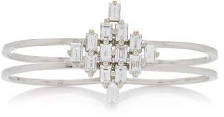 As 29 AS29 Baguette Rhombus Diamond & 18K White Gold Two Finger Rings