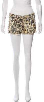 Isabel Marant Mid-Rise Animal Print Shorts
