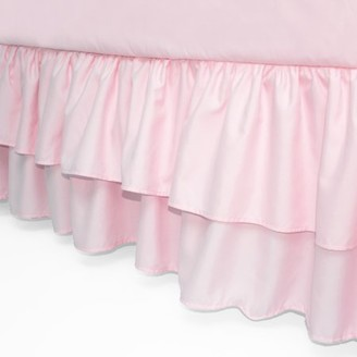 American Baby Company Double Layer Ruffled Crib Skirt, Pink