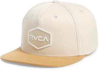 buy popular 2b35e 9dfdd RVCA Commonwealth Snapback Baseball Cap