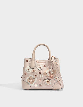 MICHAEL Michael Kors Mercer Gallery Small Center Zip Satchel Bag in Soft Pink Double Sided Mercer Pebble Leather