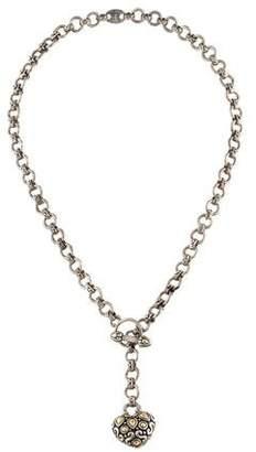 John Hardy Two-Tone Heart Toggle Necklace