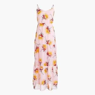 J.Crew Tall Mercantile tiered maxi dress in sunburst bouquet print