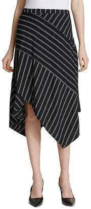 Calvin Klein Pinstriped Midi Skirt