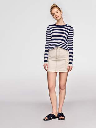 White + Warren Essential Cashmere Stripe Crewneck