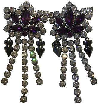 Mawi Anthracite Silver Plated Earrings