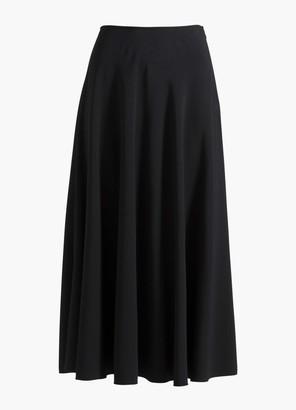 St. John Satin Back Crepe Skirt