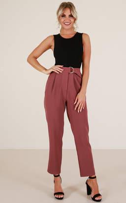 Showpo Say Its True pants in plum